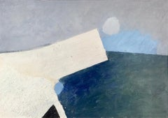 Keith Purser, Chalk on Chalk. Abstract, landscape painting, Dungeness, coastal