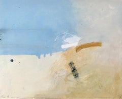Keith Purser, Sahara. Abstract, landscape painting, coastal, gestural, signed