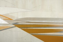 Daisy Cook, Landscape with Windsor Yellow and Ochre, large oil painting. Liminal