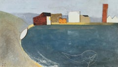 Keith Purser, The Light, large oil painting. Landscape, Found objects, Dungeness