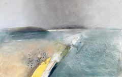 Keith Purser, North Sea, large oil painting. Landscape, Found objects, Sand