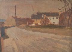Edward Morland Lewis, Ferryside, Carmarthe Dyfed, oil painting. 1930s, Wales