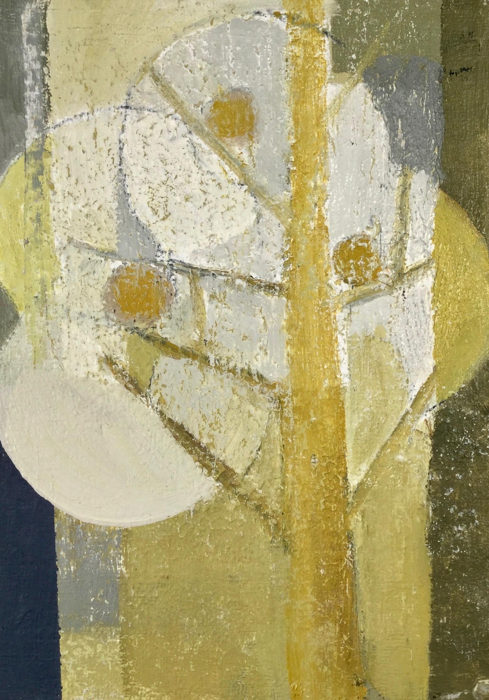 Daisy Cook, Tree with Windsor Yellow II. Bold, light, bright abstract oil paint