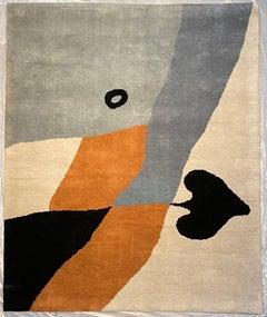 """As de Pique"" Rug/Wall Art by Jean Arp Edition Marie Cuttoli/Lucie Weill"