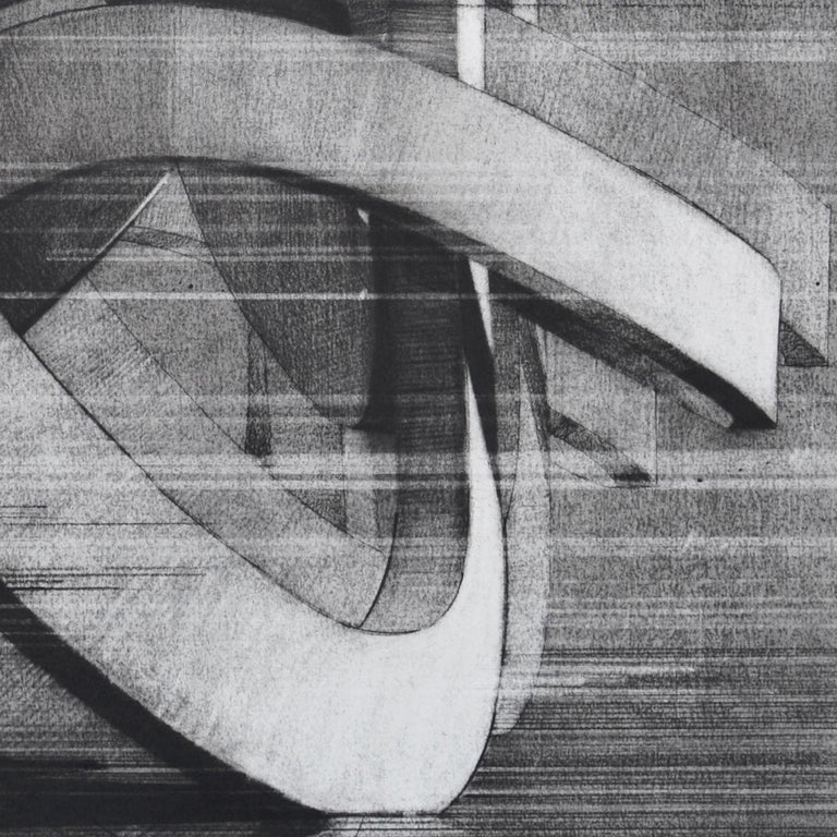 Gestured - Gray Abstract Drawing by Travis Rice