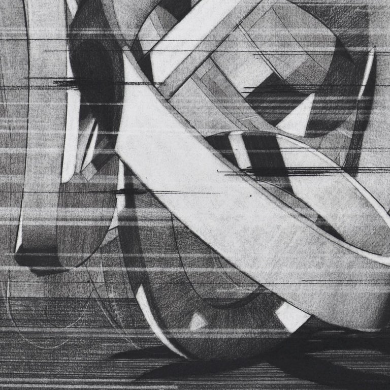 Movement - Gray Abstract Drawing by Travis Rice