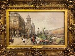 Quai de la Horloge, Belle Epoque, School of Paris Gouache