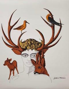 Jean Marais Le faune aux bois de cerf sur