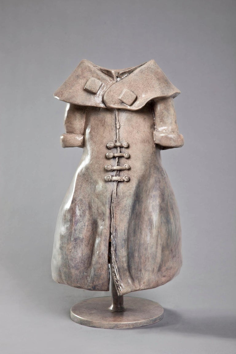 Anita Birkenfeld, Dress, garment sculpture, Bronze sculpture - Sculpture by Anita Birkenfeld