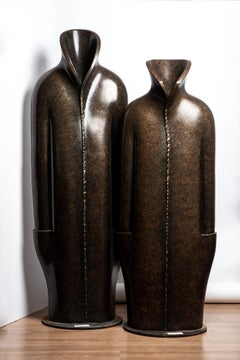Anita Birkenfeld, Big Robes, monumental sculptures, Mamilla center, polymer