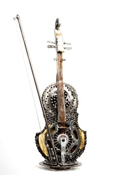 Shmulik, Violin sculpture,Musical instrument, recycled pieces