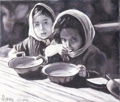 Ina Pesenka, 1946, Palestine,Historical painting,  Oil on canvas