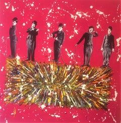 Michael Edery, Charlie Chaplin, Acrylic on canvas
