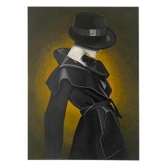 Michal Schtibel, Big Black coat, Oil on canvas