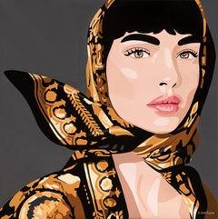 Orit Fuchs Oil & Acrylic female figure painting.  From Vivid 100 series.