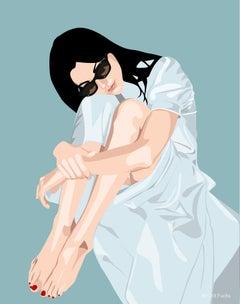 Orit Fuchs Giclee print female figure painting.  From Vivid 83 series.
