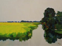 ''A Summer in the Polder'', Contemporary Dutch Oil Painting of a Landscape