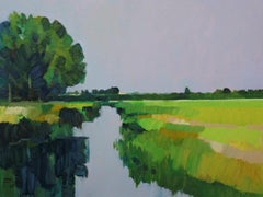 ''Late Summer'', Contemporary Dutch Oil Painting of a Landscape