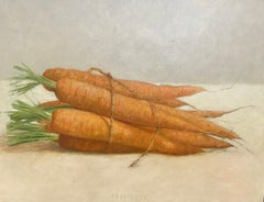 ''Carrots'' Contemporary Dutch Still Life Painting of Vegetables, Carrots