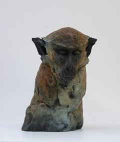 ''Monkey Sketch 1'', Contemporary Bronze Sculpture of a Primate, Monkey