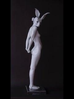 """Large Vigils Echo"" Contemporary Bronze Nude Sculpture of a Woman"