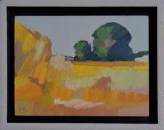 ''Landscape Miniature 14'', Contemporary Dutch Landscape Miniature Oil Painting