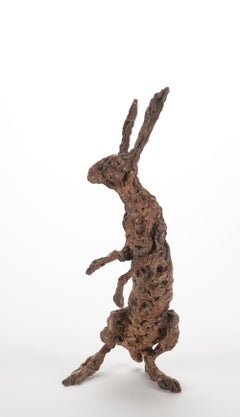 ''Hare Madame'', Contemporary Bronze Sculpture Portrait of a Hare