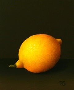 """Lemon"" Contemporary Dutch Fine Realist Painting of Still-Life with Fruit"