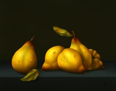 """Quinces"" Contemporary Fine Realist Still-Life Painting of Quinces, Fruit"
