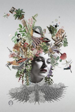 ''Isabella'' Limited edition giclee print of surrealistic collage, Marta Toren