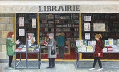 ''Librairie'' Cosy Dutch Painting of a Bookstore