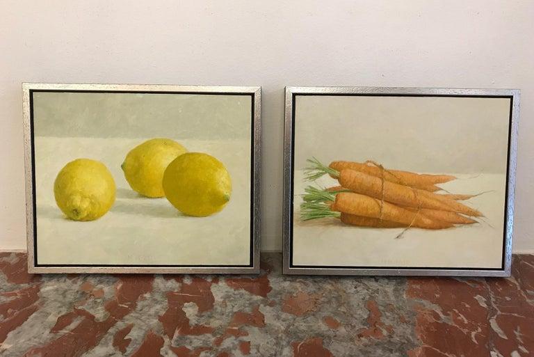 ''Lemons'' Contemporary Dutch Still Life Painting of Fruit, Lemons For Sale 5