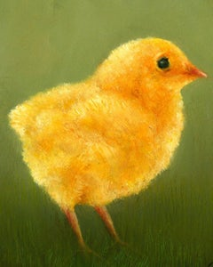 """Baby Chick"" Contemporary Fine Realist Still-Life Painting of a Baby Chick"