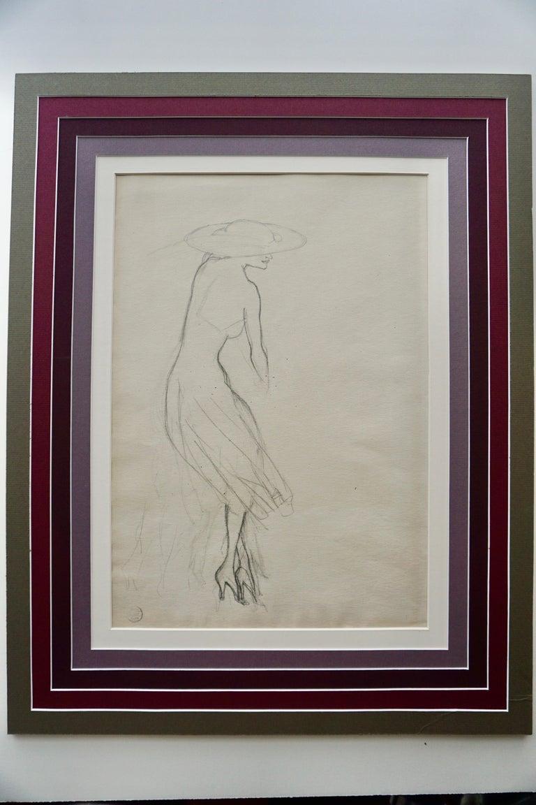 Rudolf Bauer Figurative Art - Profile of a Woman - Study