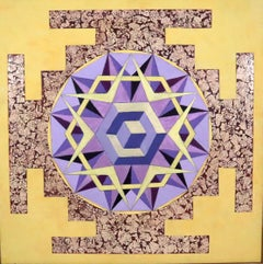 Honey Bee Mandala #1 from the series by David Clough 2009