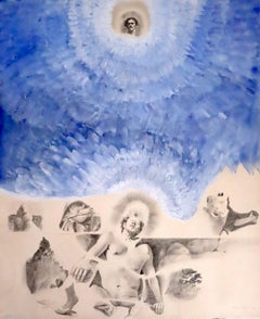 Paul Wonner 1971 pencil and gouache San Francisco Bay Area Figurative art