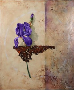 Winged Iris realist painting by Brad Stroman
