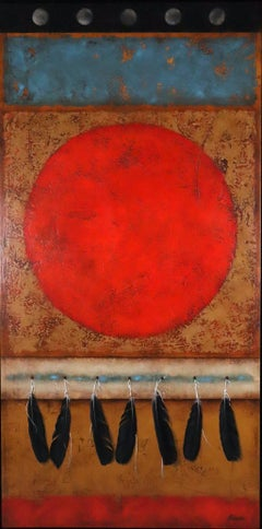 Land of the Red Sun realist painting by Brad Stroman