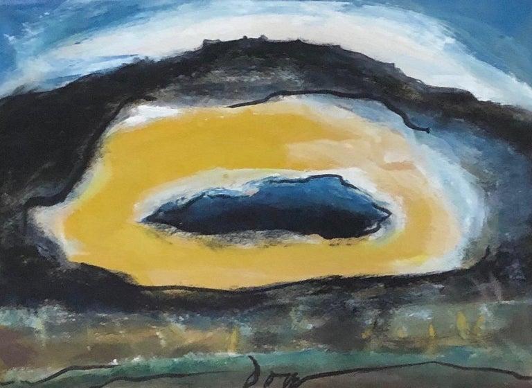 """Arthur Dove """"Sun"""" Original Watercolor Circa 1940 - Painting by Arthur Dove"""