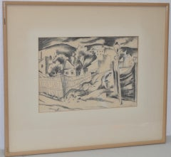 20th Century Landscape Drawings and Watercolours