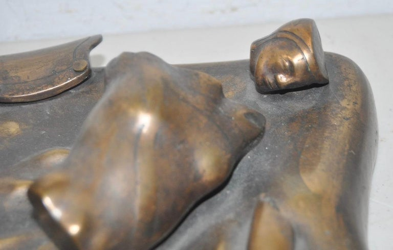 Malcolm Woodward Surreal Ancient Ruins Bronze Sculpture  For Sale 1