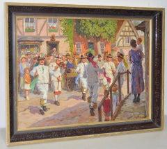 Bavarian Celebration Painting by WRS Scott c.1930s