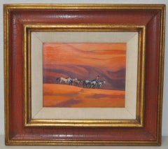 """Ted Littlefield """"Navaho Drive"""" Acrylic Painting c.1970s"""