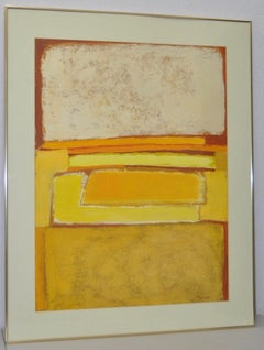 Phyllis Ciment Vintage Abstract in Yellows c.1970