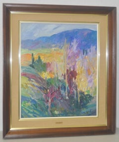 "Fidel Bofill Bosch ""Autumn in Spain"" Original Oil Painting c.1980"