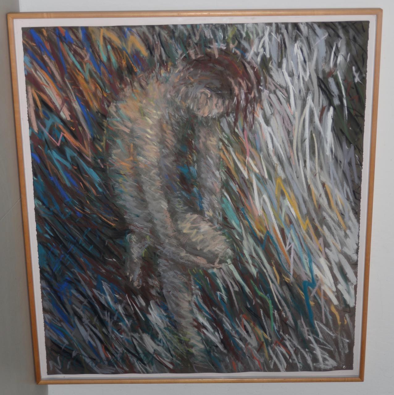 Richard Overstreet (American, 20th c.) Reclining Figure Pastel Painting