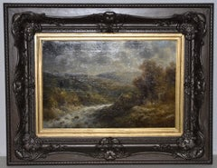 Thomas Griffin River Landscape Oil on Canvas 19th Century