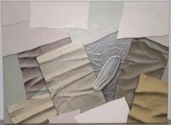 "William DeKoornbolt ""Wonton Malice"" Original Mixed Media Abstract Painting c.198"