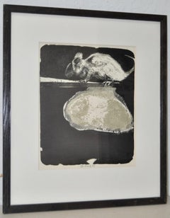 "Gerald Gooch Mid Century Abstract ""The Mouse"" Lithograph c.1964"