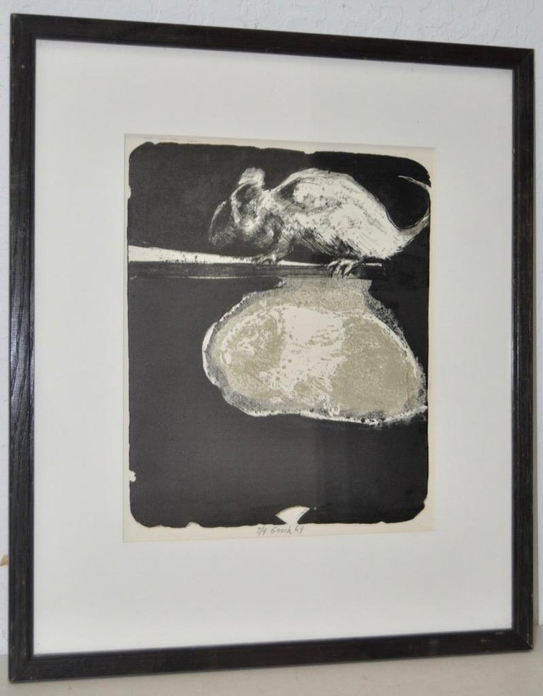 """Gerald Gooch Mid Century Abstract """"The Mouse"""" Lithograph c.1964 - Print by Gerald Gooch"""